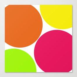 Big Colorful Circles Pattern Print Design Canvas Print