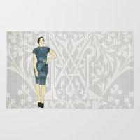 olivia joy Area & Throw Rugs featuring Olivia by Aquamarine Studio