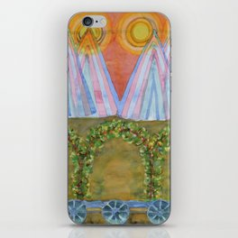 Tipis and decorated Wagon iPhone Skin