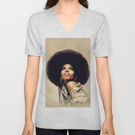 Diana Ross, Music Legend Unisex V-Neck