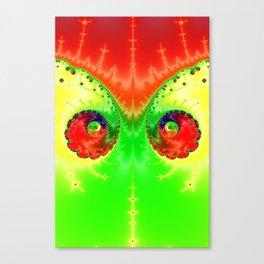 Vibrant Spring Twin Vortex Fractal Art Print Canvas Print