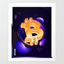 Cryptolee - Bitcoin Art Print