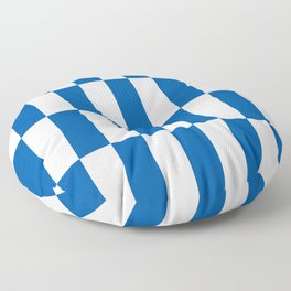 Bars (Bright Blue) Floor Pillow