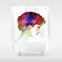 universe Shower Curtains featuring UNIVERSE by chuma hill