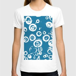 """""""Patterns of Nature"""" Logs in Blue at Veroce, Hungary T-shirt"""