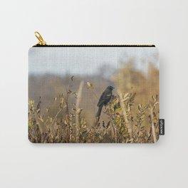 Blackbird in Autumn Light Carry-All Pouch