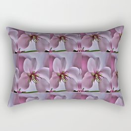 Peach Blossom Flower Pattern Rectangular Pillow