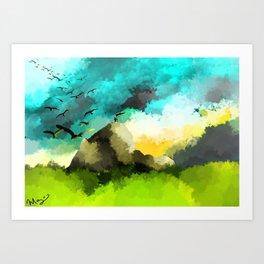 Mountain Peeks Art Print