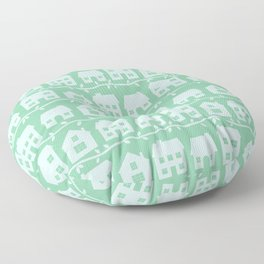 Cottage Charm in Peppermint Green Floor Pillow