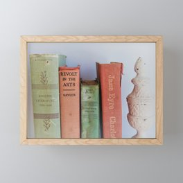 Wuthering Heights and Jane Eyre Framed Mini Art Print
