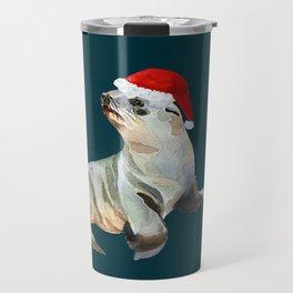 Christmas fur seal Travel Mug