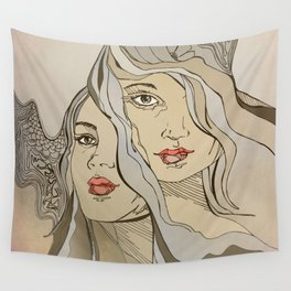 'daughters of achelous' Wall Tapestry