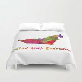 United Arab Emirates in watercolor Duvet Cover