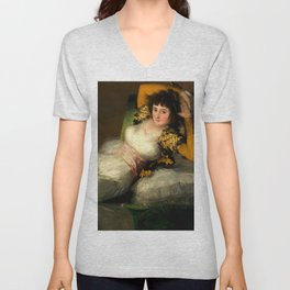 "Francisco Goya ""La maja vestida (The Clothed Maja)"" Unisex V-Neck"