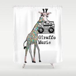 Giraffe Music Shower Curtain