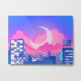 Dreamy Moon Nights Metal Print