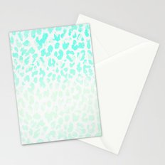 Vintage Teal Leopard Stationery Cards