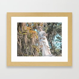 Graveyard Statue - AKA Weeping Angel Framed Art Print