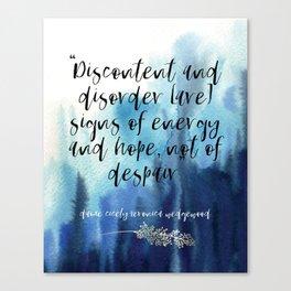 discontent + disorder Canvas Print
