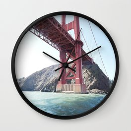 Summer in California - Golden Gate Bridge  Wall Clock