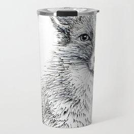 Fox staring Travel Mug