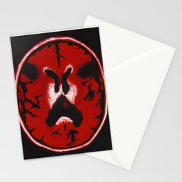 Red Brain Scan Stationery Cards