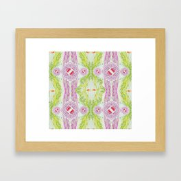 Pink & Green, Treads on Threads by Robbie Kaye Framed Art Print