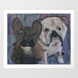 fenchie and bulldog Art Print