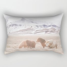 WILD AND FREE 3 - HORSES OF ICELAND Rectangular Pillow
