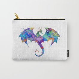 Dragon Colorful Watercolor Art Carry-All Pouch