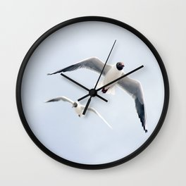 Flying seagulls Wall Clock