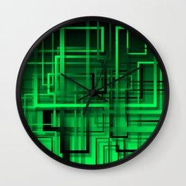 Black and green abstract Wall Clock