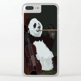 panda violinist Clear iPhone Case