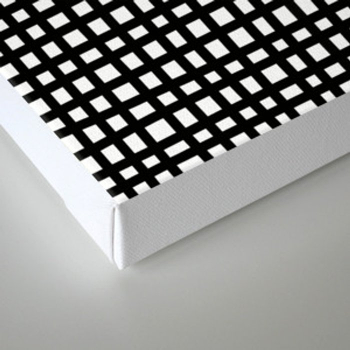 Black and White Gingham Canvas Print