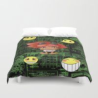 gurren lagann Duvet Covers featuring Chibi Edward by artwaste