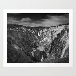 Lower Falls black and white Art Print