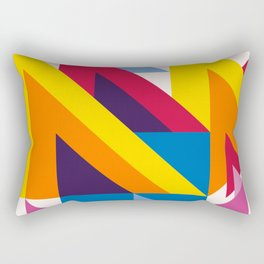 Abstract modern geometric background. Composition 20 Rectangular Pillow
