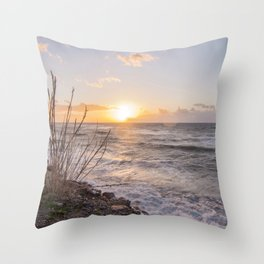 """Sicily, at sunset... that """"smell"""" of saltiness.... Throw Pillow"""