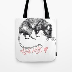 love rat Tote Bag