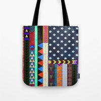 boho Tote Bags featuring Boho America by Schatzi Brown