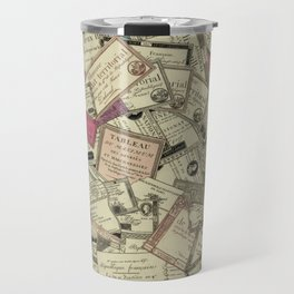 Antique Engraving of French Currency Travel Mug