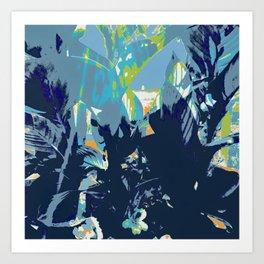 Blue Jungle Art Print
