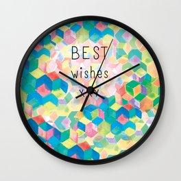 Best Wishes..Kaleidoscope Wall Clock