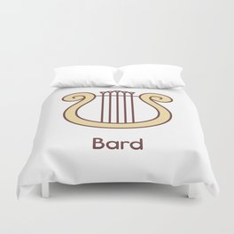 Cute Dungeons and Dragons Bard class Duvet Cover