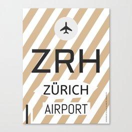 ZRH Alpine Chocolade Canvas Print