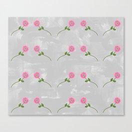 Repeating Pink Daisies Canvas Print