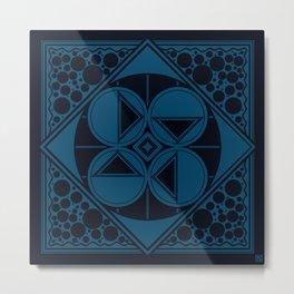 Dar Forma - Blue Metal Print