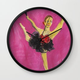 Jim Dances Divinely Wall Clock