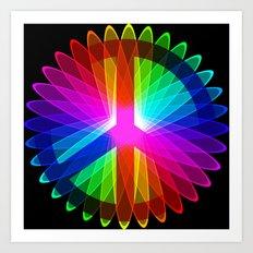 Rainbow Peace Art Print