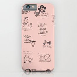 Gilmore Girls Quotes in Pink iPhone Case